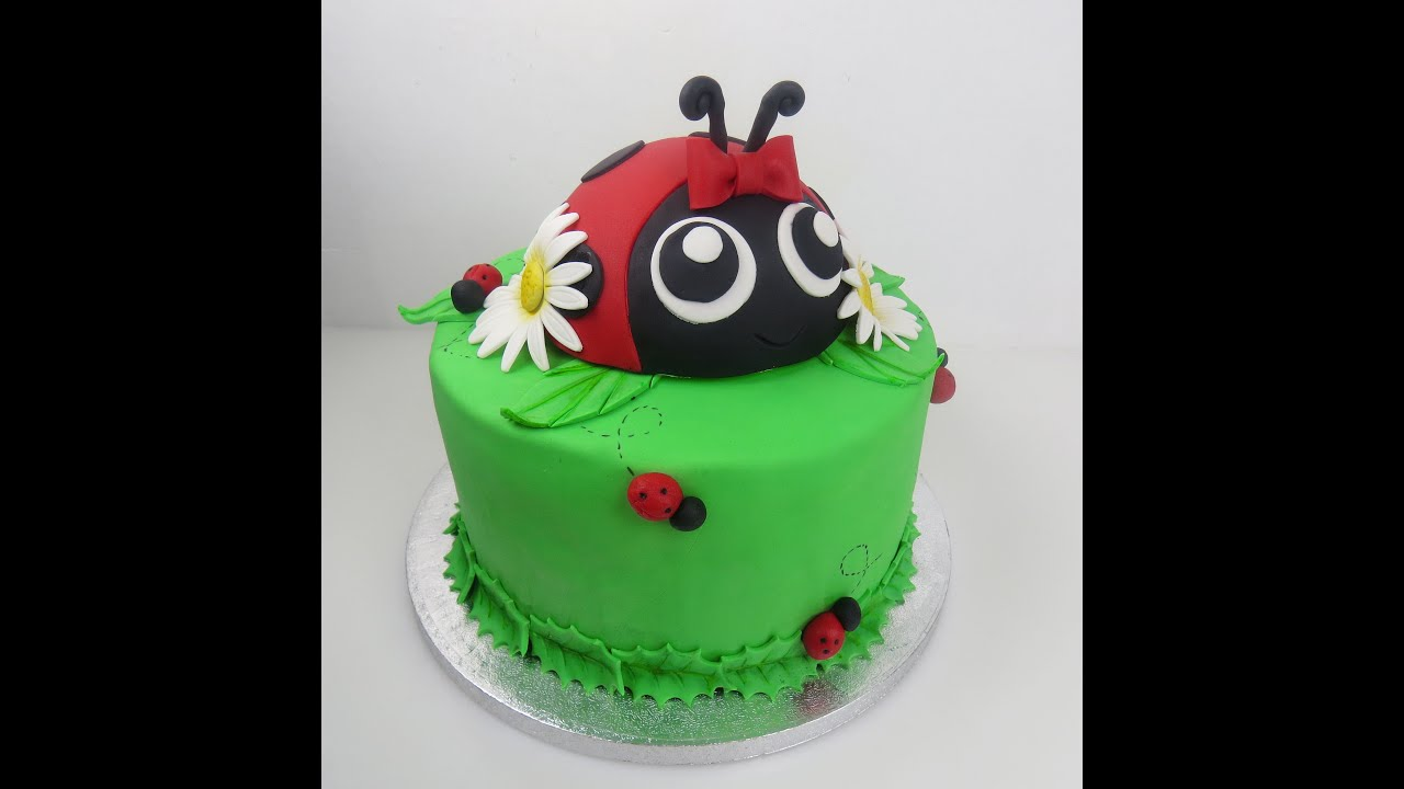 How To Make A Ladybug Cake Topper