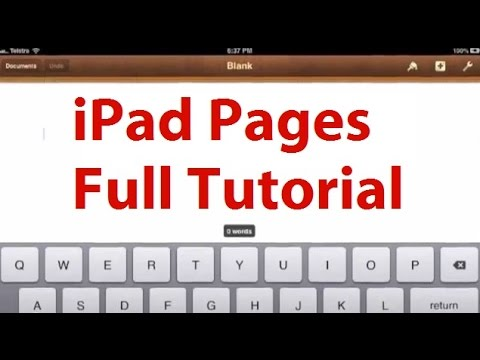 Pages for iPad Tutorial - Word Processor for iPad - Word App for iPad