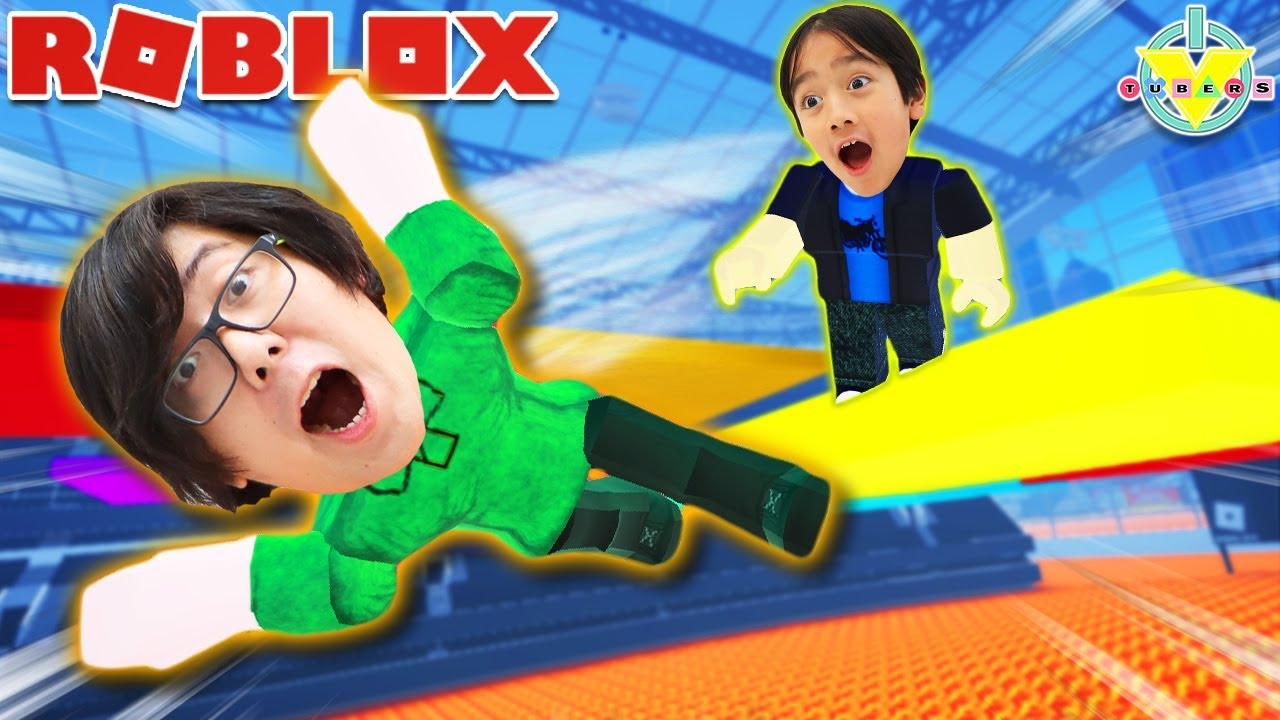 DON'T FALL OFF YELLOW!! Let's play Roblox Color Experiment with Ryan's Daddy
