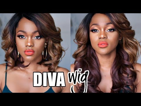 WATCH ME TRANSFORM THIS WIG!!! DIVA WIG REVIEW FROM SAMSBEAUTY | LUCHI LOYALE