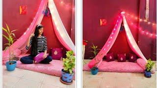 Diy Room Decoration With Sarre / Dupatta , Home Decor Idea's/ Home Decor