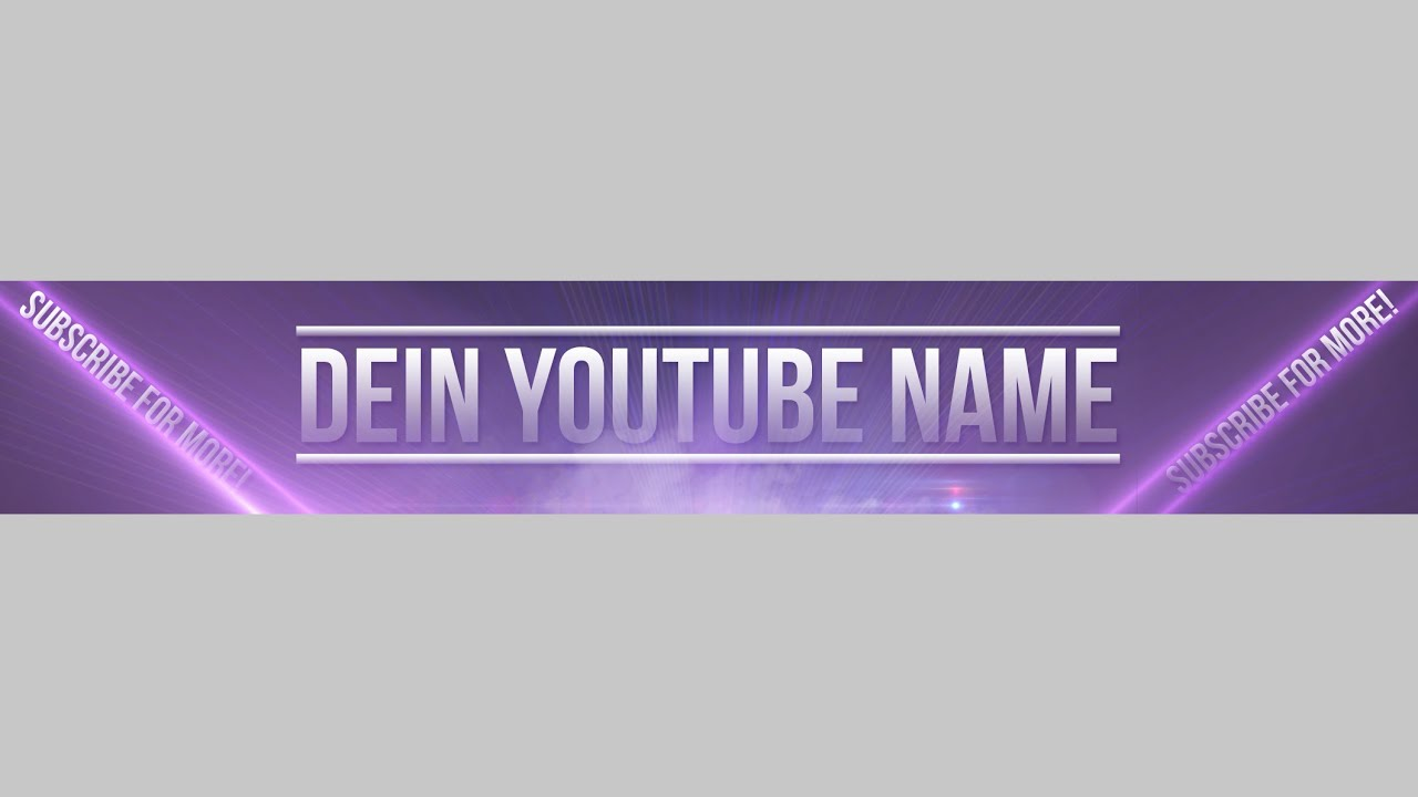 Wunderbar Youtube Kanal Banner Vorlage Ideen - Entry Level Resume ...