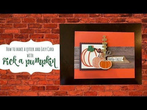 Fall card using the pick a pumpkin bundle