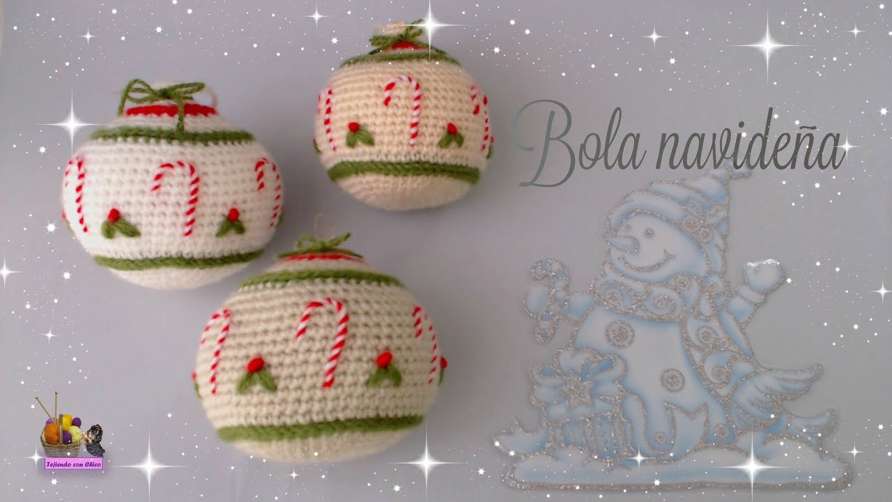 Tutorial amigurumi - Bola navideña 1 - YouTube
