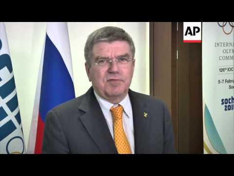 IOC president Bach on final preparations for Sochi games