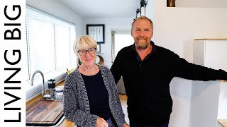 In this episode we revisit Dave and Adrienne in their stunning tiny house on wheels which they built to live big in their retirement, only this time, it's a different tiny ...