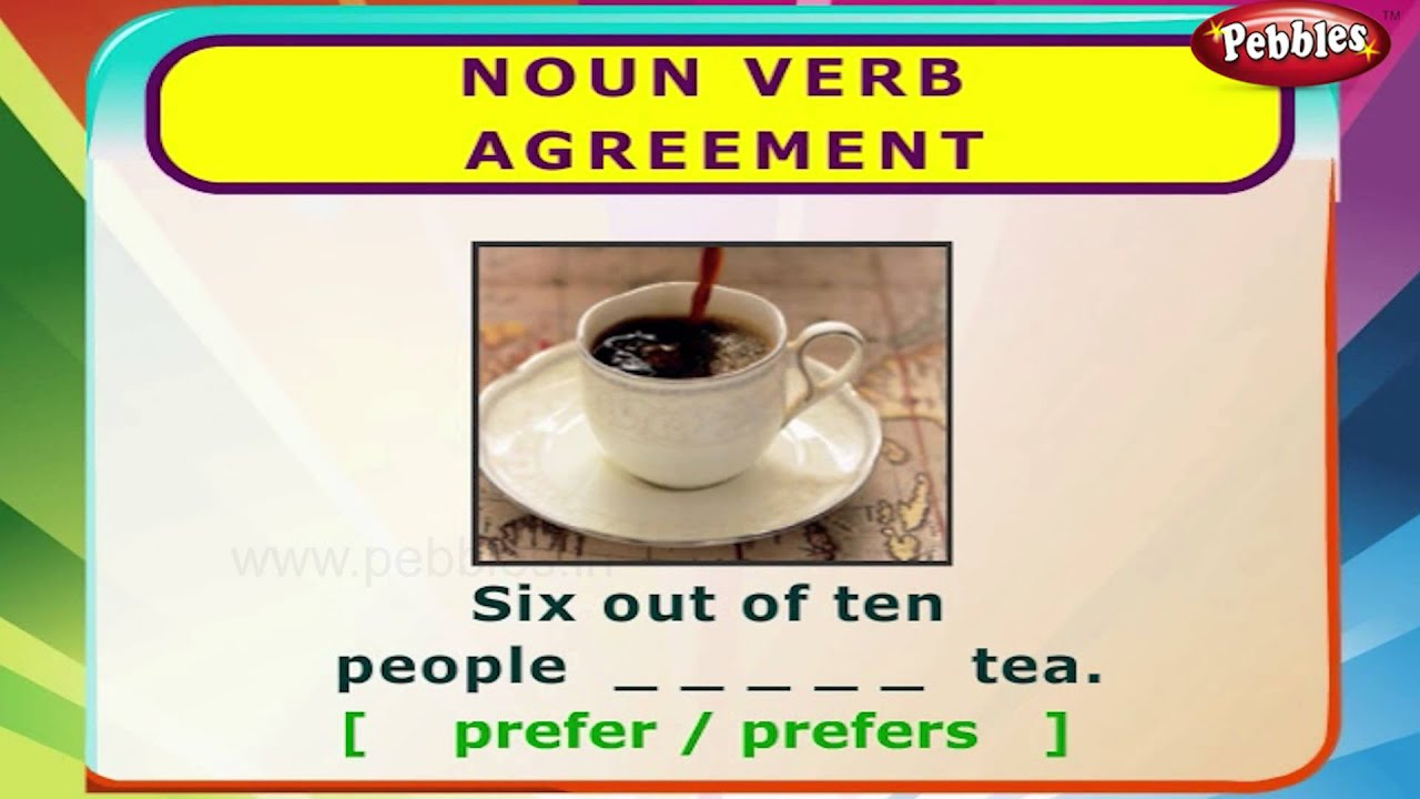 Noun Verb Agreement English Grammar Exercises For Kids English
