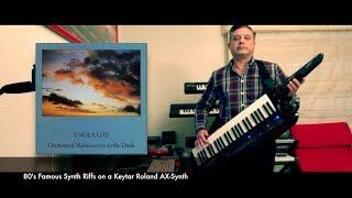 80s Synth Keyboard Riffs - Roland Keytar AX-Synth (MEDLEY)
