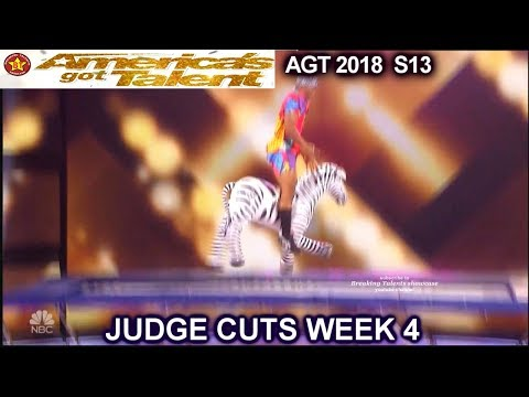 "Elijah Holt Trampoline Acrobat With ""Tyler"" The Zebra America's Got Talent 2018 Judge Cuts 4 AGT"