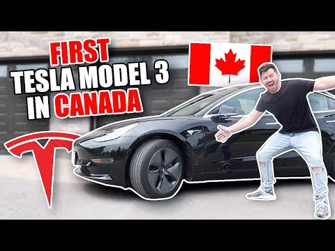 BUYING THE FIRST TESLA MODEL 3 IN CANADA!! (MY NEW CAR REVEAL)