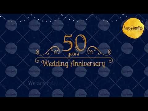 50th Wedding Anniversary Invitation Video 50 Years Animated Invite