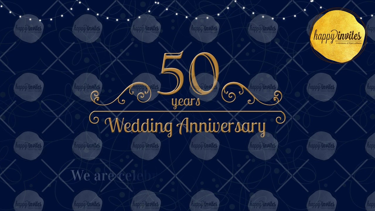 50th wedding anniversary invitation video 50 years animated invite 50th wedding anniversary invitation video 50 years animated invite golden jubilee celebration stopboris Choice Image