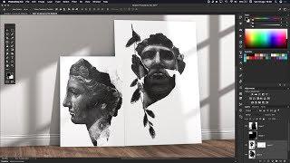 Photoshop Tutorial Mockup 3D Canvas on Wall | Interior Design