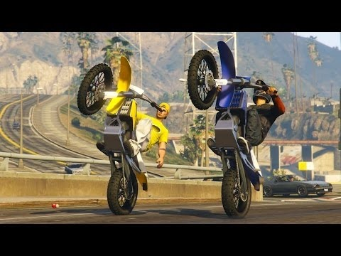 gta5 en ligne moto cross roue arriere youtube. Black Bedroom Furniture Sets. Home Design Ideas