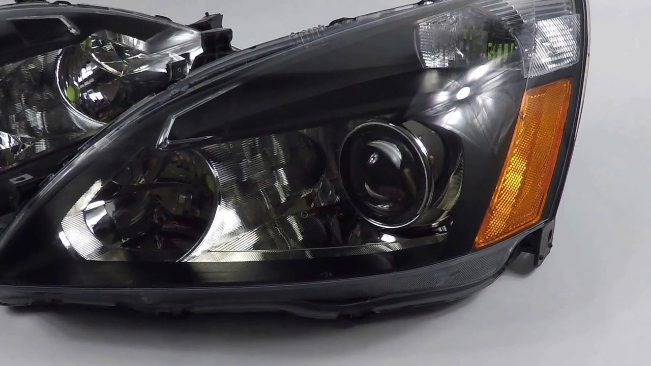 2005 Honda Accord Headlights   Lexus RX350 Bixenon Projector Conversion