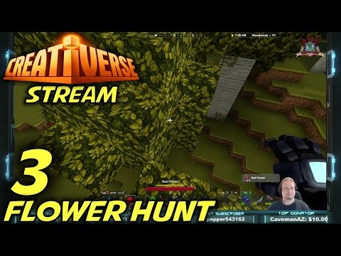 "Creativerse -Ep. 3- ""Flower Hunt"" -Let's Play Creativerse Sub Server Stream- (S1)"