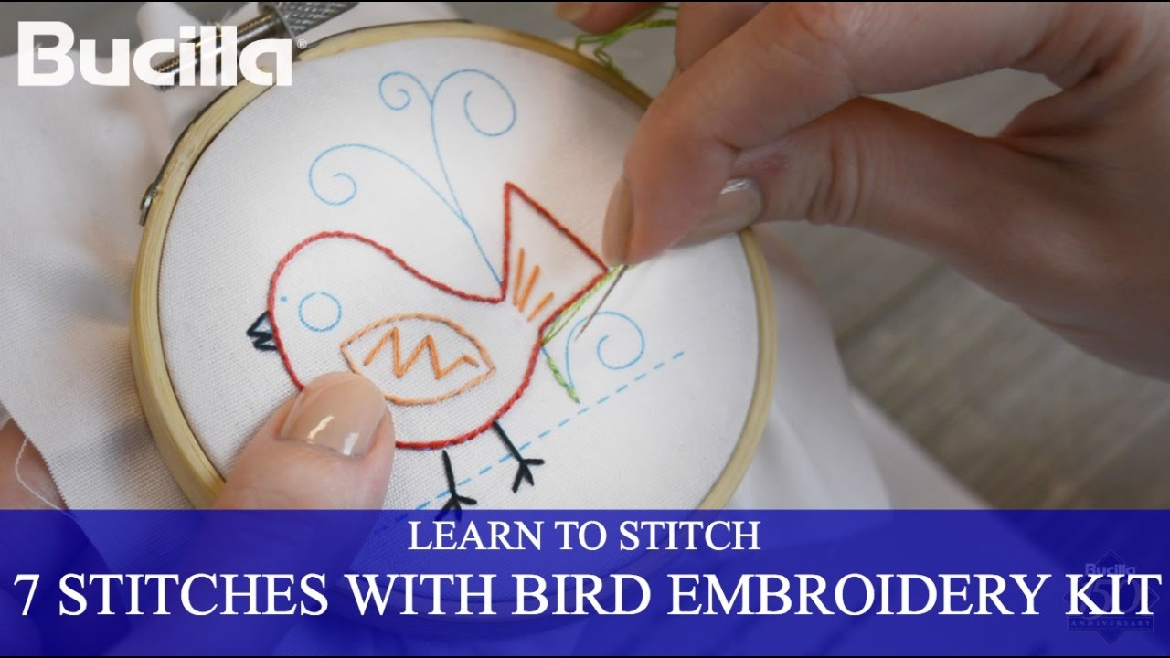 Learn 7 Embroidery Stitches With Bucilla Learn To Stitch Kit