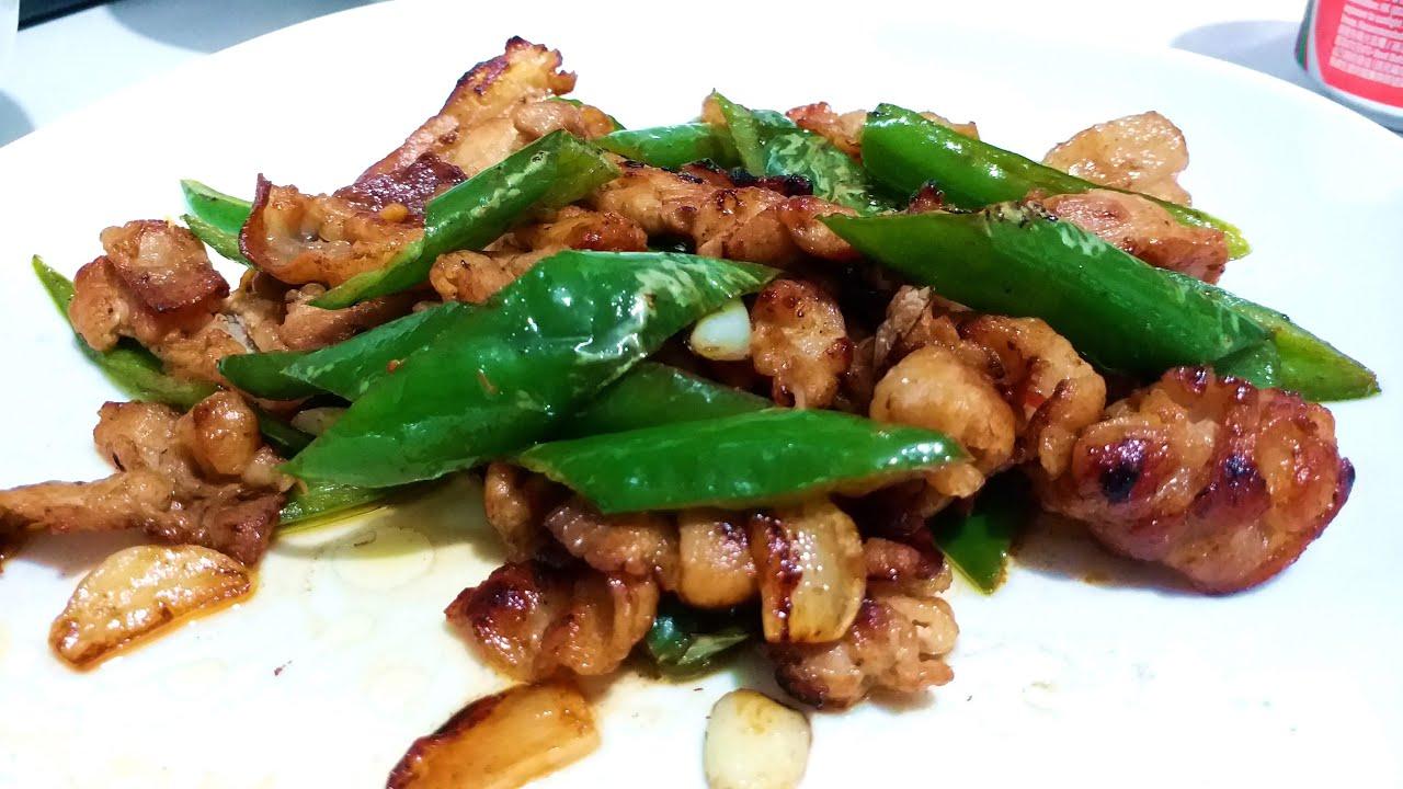 尖椒蒜片炒腩片 / 少辣惹味 Fried Pork with Green Pepper 【20無限】