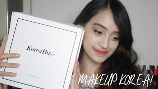 Unboxing & Tutorial KoreaBuys Beauty Box / Korean Makeup | Nadya Aqilla