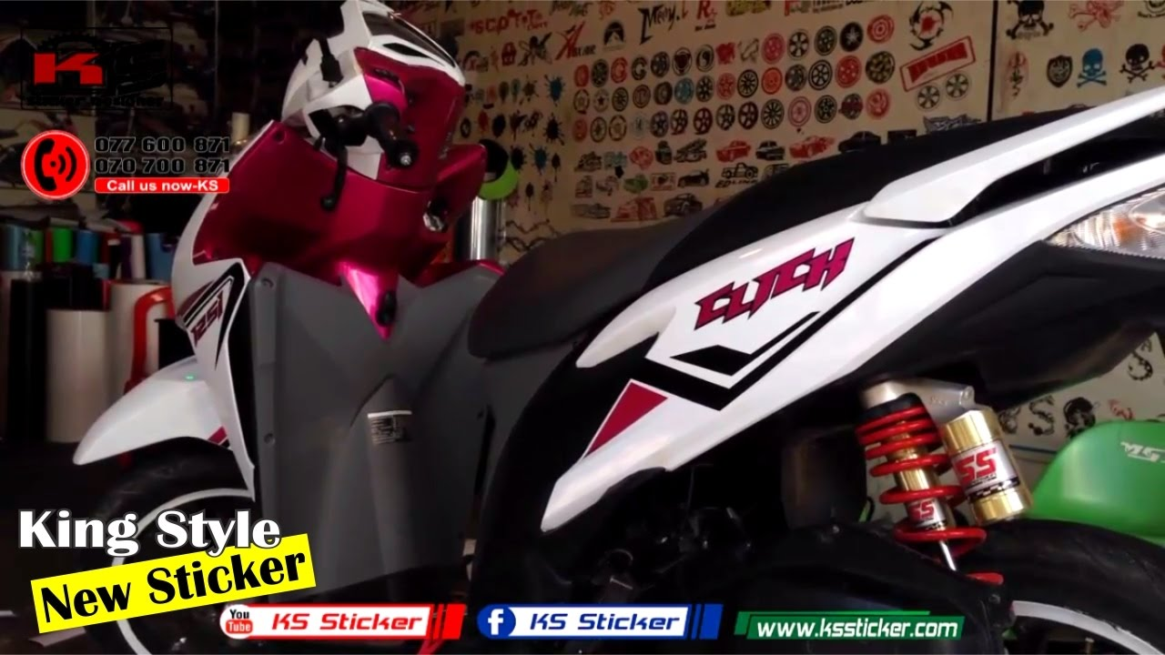 Click 125i Honda New Stamp - Click Full Wrap sticker Walkaround ... for Honda Sticker Design For Motorcycle  557yll