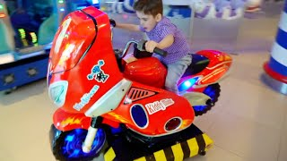 Alex Ride on Motorbike Having Fun