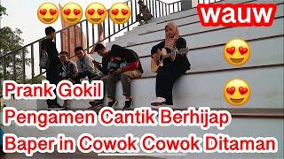 Prank Bikin Baper Cowok-Cowok Ditaman !!! Pura Pura Engga Bisa Nyanyi Bikin Ketawak Ngakakk 😂