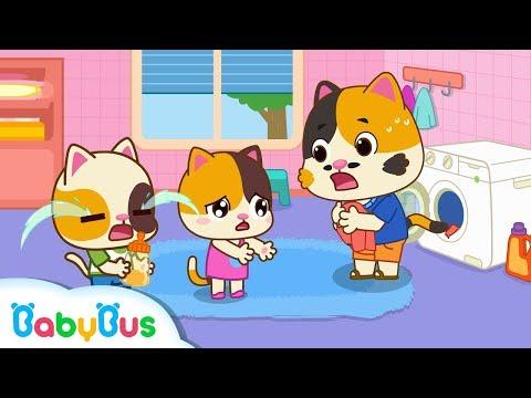 Baby Kitten's Favorite Skirt is Torn | Baby Kitten Family | Kids Safety Tips | Baby Care | BabyBus