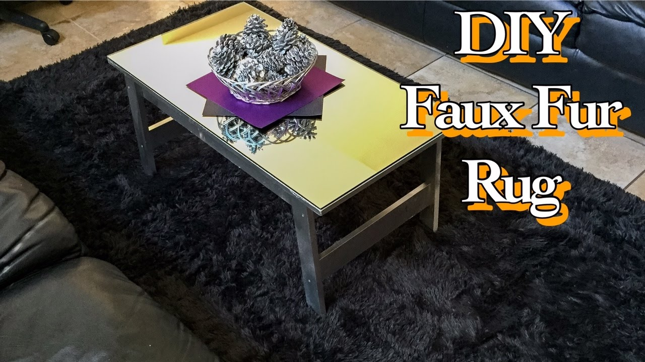 QUICKEST DIY: FAUX FUR AREA RUG [WALMART HACK] [NO SEW]
