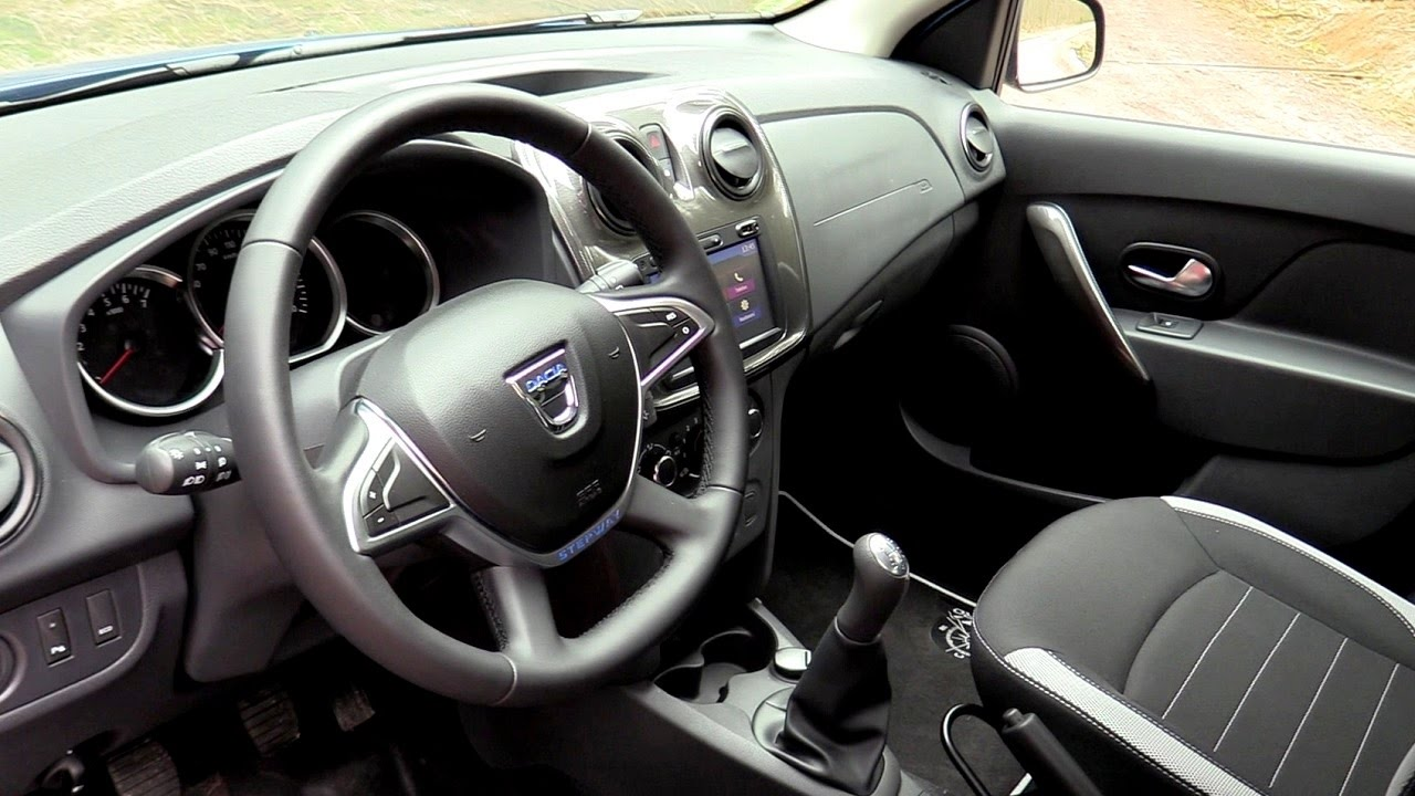 interior new dacia sandero stepway 2017 medianav evolution youtube. Black Bedroom Furniture Sets. Home Design Ideas