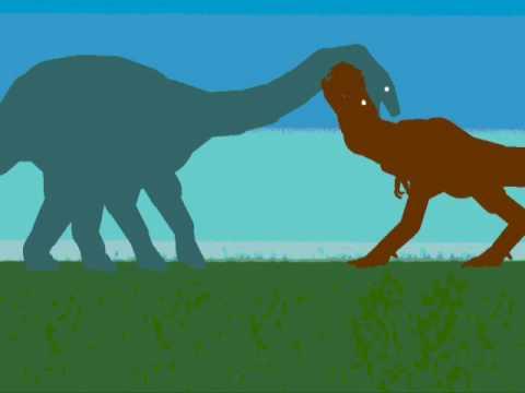 TDF Apatosaurus vs. Tyrannosaurus - YouTube