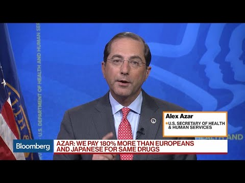 HHS 'a Azar Says Trump Drug Plan Won't Hurt Pharma R&D