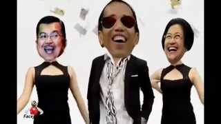 Mantab !!! Video Joget Jokowi Jusuf kalla Megawati setelah menang PILPRES 2014