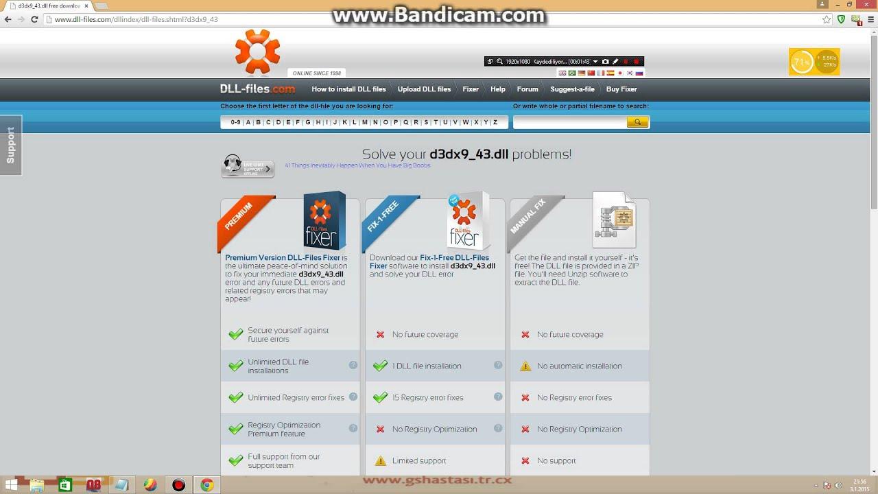 D3dx9 43 dll скачать программу бесплатно