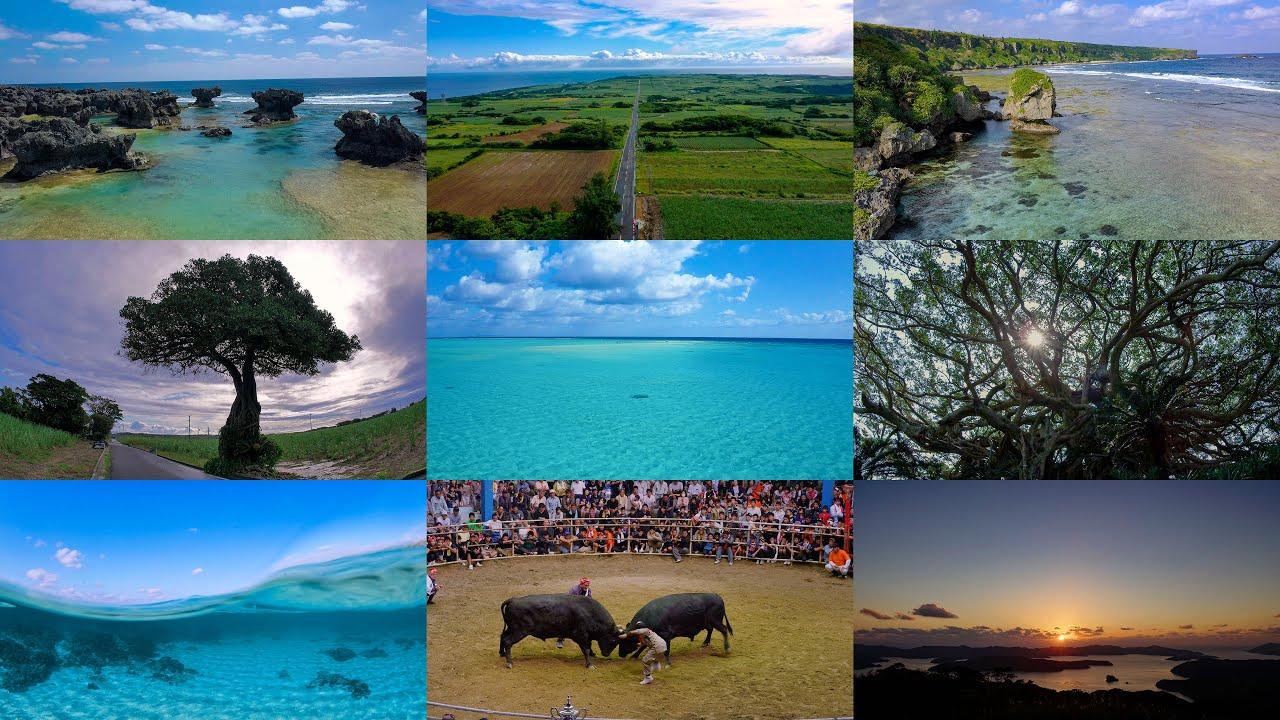 [4K] 奄美群島(奄美大島、加計呂麻島、喜界島、徳之島、沖永良部島、与論島)の絶景巡り Tour of the Amami Islands