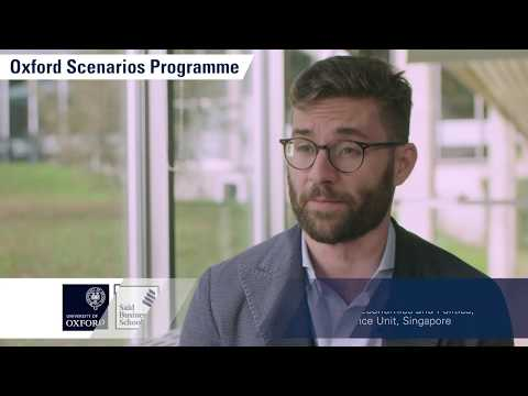 Oxford Scenarios Programme Insights: Focusing on the organisation's needs