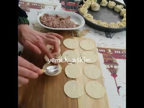 Тесто розочки с мясом
