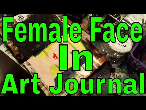 Painting A Female Face In Art Journal