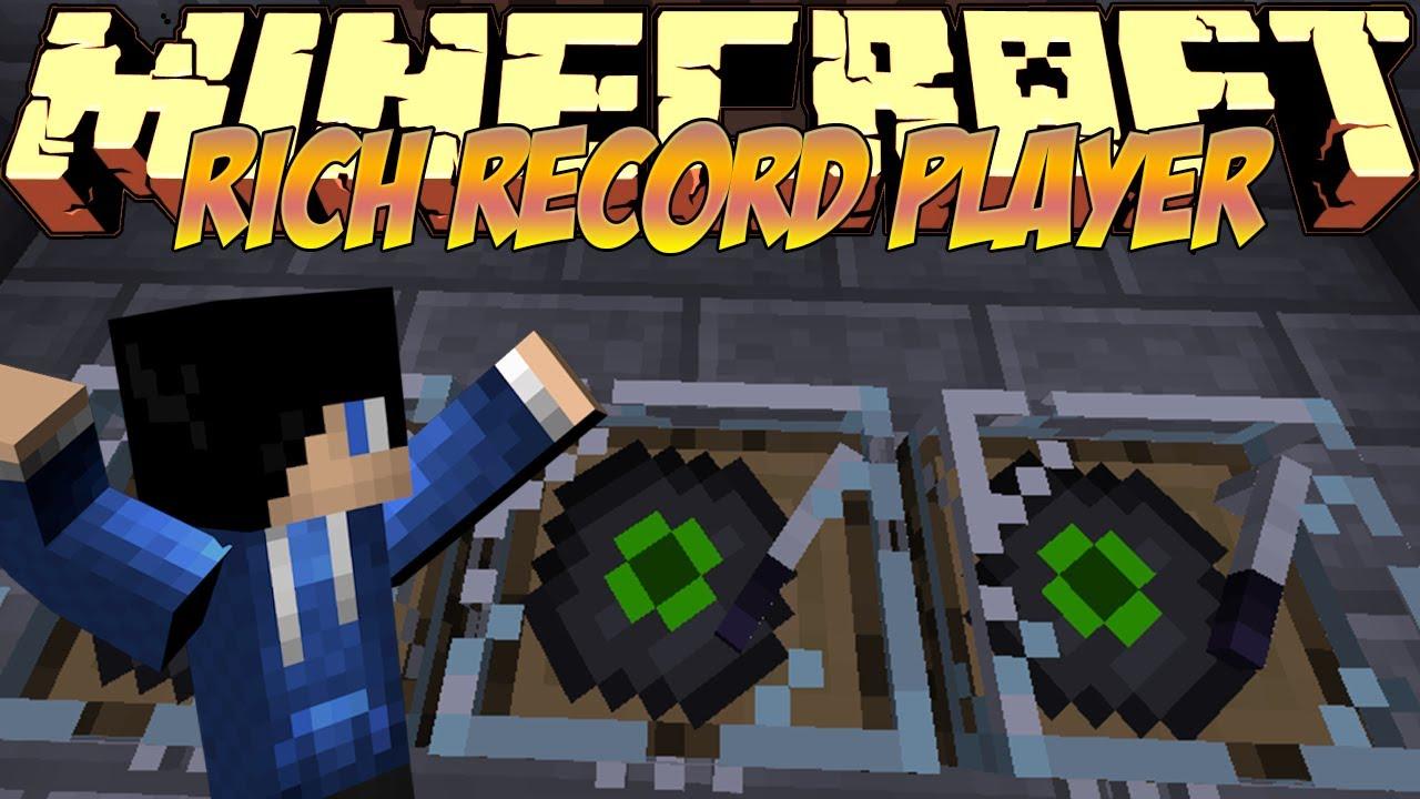 Minecraft Mods Showcase Rich Record Player Mod 18 1710 182 1120