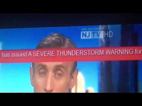 EAS #51: NJTV EAS Severe Thunderstorm Warning For 3 NJ, 4 PA, and New Castle, DE 5-28-2019 6:52 PM