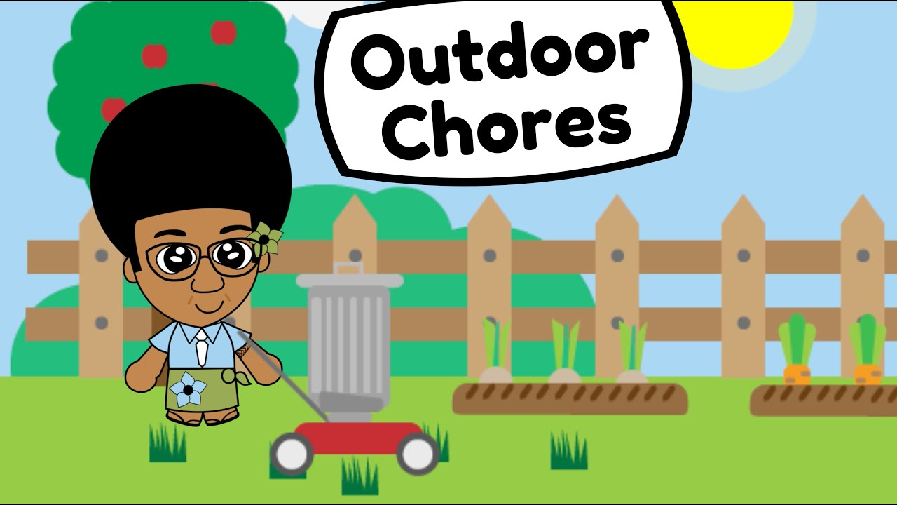 Let's help Mummy and Daddy with the Outdoor Chores