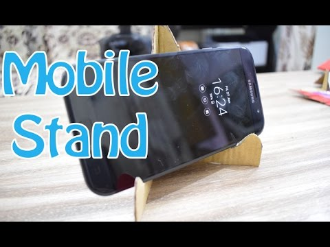 how to make mobile stand with waste material