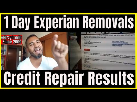 Must See!! Experian Removals In 1 Day / Disputing Online With All 3 Bureaus  #GizzyCredit