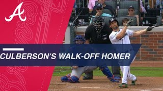 Culberson clubs walk-off homer to lead Braves to win