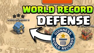 YOU WON'T BELIEVE THIS BASE DEFENSE WORLD RECORD | Clash Of Clans |
