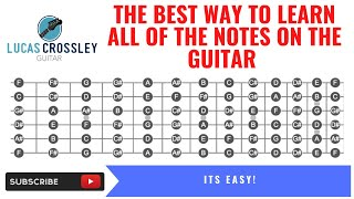 The best way to learn all of the notes on the guitar using the circle of 4ths