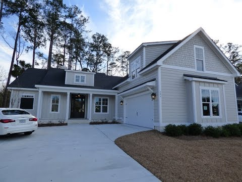 New Cottage Style Home For Sale in Hampton Lake Bluffton SC With Wooded View