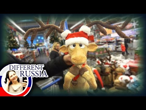 CHRISTMAS SHOPPING AT MOSCOW METRO STORE