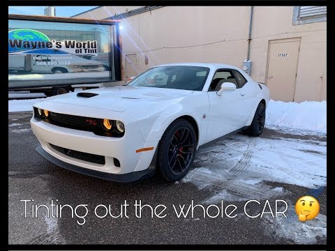 Dodge Challenger widebody  gets every window Tinted 😎