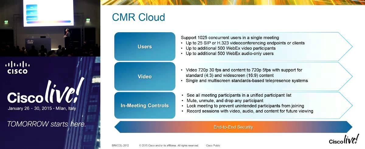 WebEX and CMR Deployment