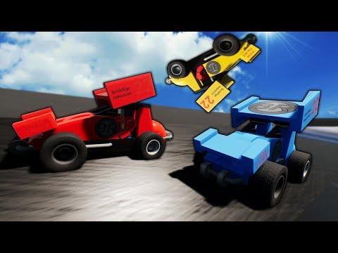 Idiots RACE Sprint Cars! - Brick Rigs Multiplayer Gameplay |